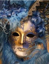Leveranstid 1,5v -  Blå mask, fyrkant, 60x80cm - Blå mask fyrkant 60x80cm