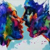 Kyssen, fyrkant, 80x60cm
