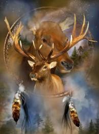 Drömfångare renar, fyrkantig, 60x80cm - Drömfångare renar, fyrkantig, 60x80cm