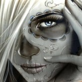 Ghost girl, fyrkant, 50x50cm