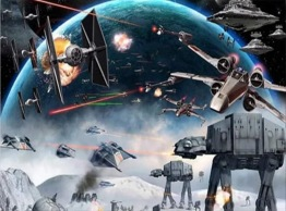 Star wars, fyrkantig, 80x60cm - Star wars, fyrkantig, 80x60cm