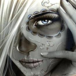 Leveranstid 1,5v - Ghost girl, fyrkant, 50x50cm - Ghost girl, fyrkant, 50x50cm