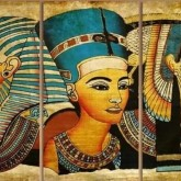 Egypten, 3 dels, fyrkant, 30x60cm x 3stk