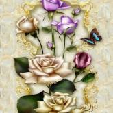 Leveranstid 1,5v. Fjärilens blomma, fyrkant, 50x70cm