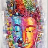Buddha, fyrkant, 60x80cm
