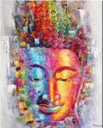 Leveranstid 1,5v - Buddha, fyrkant, 60x80cm - Buddha, fyrkant, 60x80cm