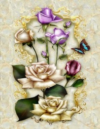 Fjärilens blomma, fyrkant, 50x70cm - Fjärilens blomma, fyrkant, 50x70cm
