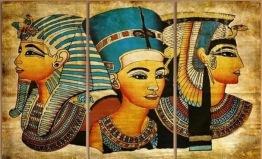 Egypten, 3 dels, fyrkant, 30x60cm x 3stk - Egypten, 3 dels, fyrkant