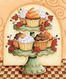 Leveranstid 1,5v. Cupcakes, fyrkant, 50x60cm - Cupcakes, fyrkant, 50x60cm
