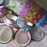 Decoupage tejp, glitter 10 pack