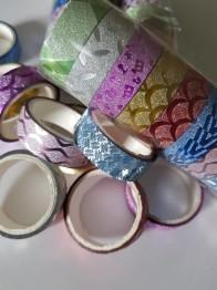 Decoupage tejp, glitter 10 pack - Decoupage tejp, glitter 10 pack