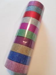 Decoupage tejp, glitter utan mönster - Tejp glitter utan mönster