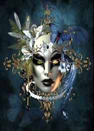 Mask, färgglad, fyrkant, 40x50cm - Mask 40x50cm