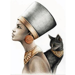 Egyptisk gudinna, fyrkant, 30x40cm - Egyptisk gudinna, fyrkant, 30x40cm