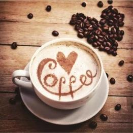 Coffee, rund, 30x30cm - Coffee, rund, 30x30cm
