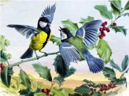 Leveranstid 1,5v - Fåglar, rund, 60x40cm - Fåglar, rund, 60x40cm