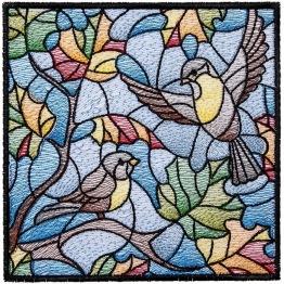 Fåglar, fyrkant, 30x30cm - Fåglar, fyrkant, 30x30cm