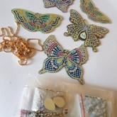 Nyckelring 5 pack fjärilar