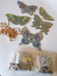 Nyckelring 5 pack fjärilar - Nyckelring 5 pack fjärilar