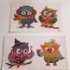 Stickers, Ugglor 7 pack - Ugglor 7 pack