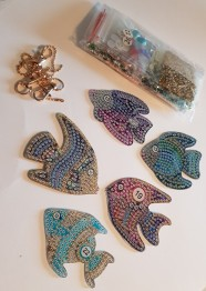 Nyckelring fiskar 5 pack - Nyckjelringar 5 pack fisk