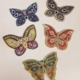 Nyckelringar fjäril bling 5 pack
