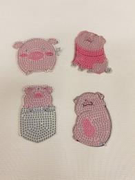 Nyckelringar 4 pack grisar - Nyckelring 4 pack grisar