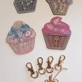 Nyckelring cupcake 4 pack.