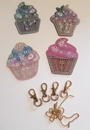Nyckelring cupcake 4 pack. - Cupcake 4 pack