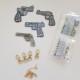 Nyckelring 4 pack pistoler