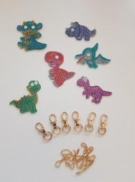 Nyckelring 6 pack dinosaurier - Nyckelring 6 pack dinosaurier