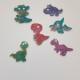 Nyckelring 6 pack dinosaurier