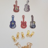Nyckelring 5 pack gitarr
