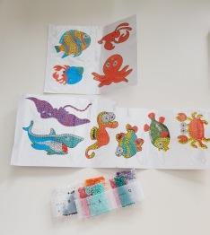 Stickers, livet under utan 10 pack - Stickers livet under ytan 10 pack