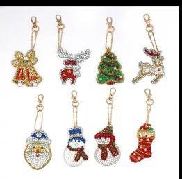 Jul kit nyckelringar 8 pack - Jul kit nyckelring 8 pack