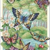 Fjärilar, fyrkant, 50x70cm