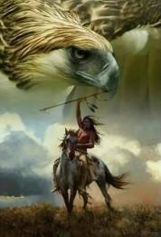 Indian med örn, fyrkant, 50x70cm - Indian med örn, fyrkant, 50x70cm