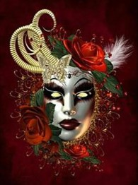 Mask röd, fyrkant, 50x60cm - Mask röd, fyrkant, 50x60cm