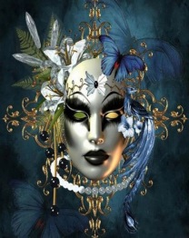 Mask blå, fyrkant, 50x60cm - Mask blå, fyrkant, 50x60cm