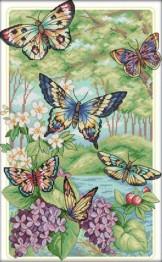 Fjärilar, fyrkant, 40x60cm - Fjärilar, fyrkant, 40x60cm