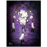Drömfångare lila, fyrkant, 50x70cm