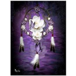 Drömfångare lila, fyrkant, 50x70cm - Drömfångare lila, fyrkant, 50x70cm