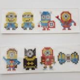 Stickers minions superhjältar 8pack
