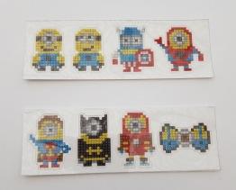 Stickers minions superhjältar 8pack - Stickers minions superhjältar 8p