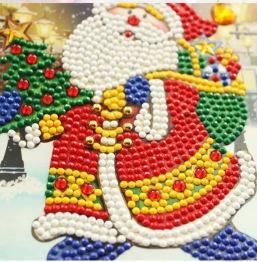Julkort tomte med säck 15x15cm - Julkort tomte med säck 15x15cm