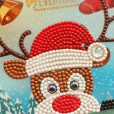 Julkort Rudolf 15x15cm