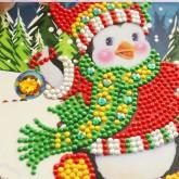 Julkort pingvin 15x15cm