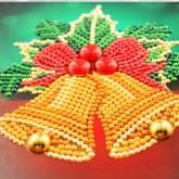 Julkort bjällror 15x15cm