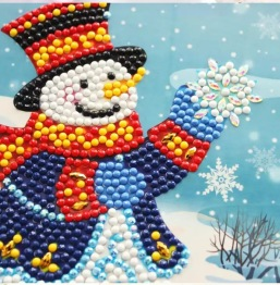 Julkort snögubbe 15x15cm - Julkort snögubbe 15x15cm