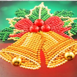 Julkort bjällror 15x15cm - Julkort Bjällror 15x15cm